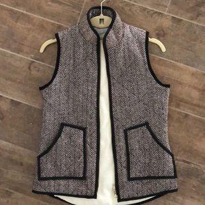Darn Brown and White Herringbone Vest